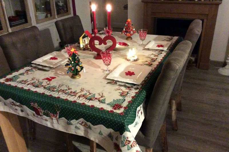 Table de Noël traditionnelle