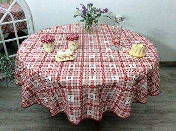 nappe d 39 alsace ronde patchwork coeur d 39 alsace et cigogne. Black Bedroom Furniture Sets. Home Design Ideas
