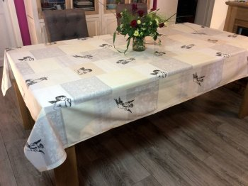 Nappe Anges, rectangulaire 100% coton